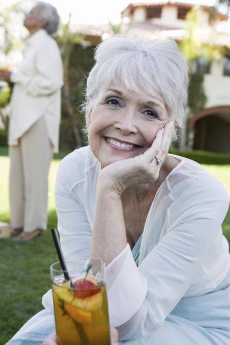 Older woman smiling | dentist Chesterfield MO