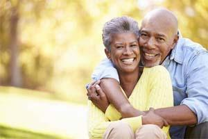 Older couple hugging | Dentist Chesterfield MO