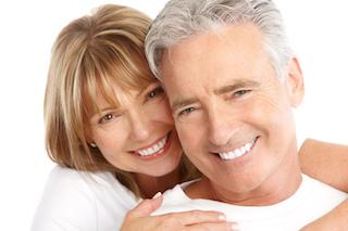 Older couple smiling | Dentist Chesterfield MO
