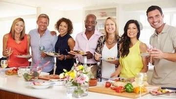 group holding food and drink | chesterfield dentist